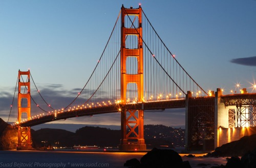 Golden Gate Bridge, After Sunset